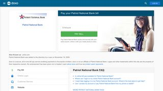 Patriot National Bank: Login, Bill Pay, Customer Service and Care ...