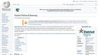 Patriot National Bancorp - Wikipedia