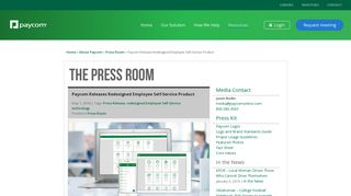Paycom | Press Room - Paycom Releases Redesigned Employee Self ...