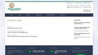 Employer Login | MoneyWise Payroll