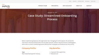 Case Study: Streamlined Onboarding Process | Paylocity