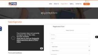 PCRA Registration