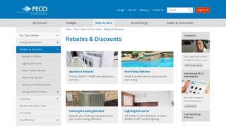 Rebates & Discounts | PECO - An Exelon Company