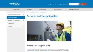 Serve as an Energy Supplier | PECO - An Exelon Company