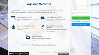 myPennMedicine - Login Page