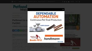 PetSmart to acquire online pet retailer Pet360 - PetfoodIndustry