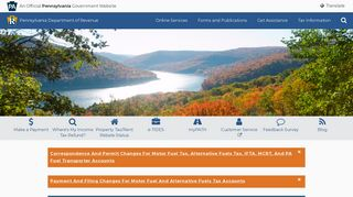 PA Department of Revenue Homepage
