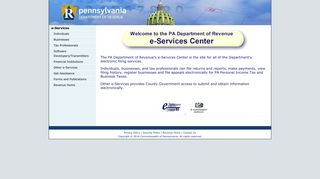 The PA Department of Revenue