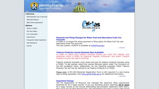 e-TIDES Pennsylvania Business Tax System