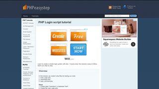 PHP Login script tutorial - PHPeasystep