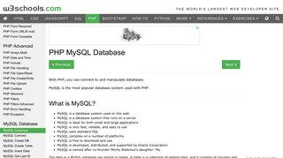 PHP: MySQL Database - W3Schools