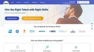 Recruitment Solutions & Employer Login Services @ Shine.com