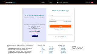 Employers Login | Institute Login - Freshersworld.com