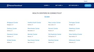 Health Centers - Connecticut - Planned Parenthood