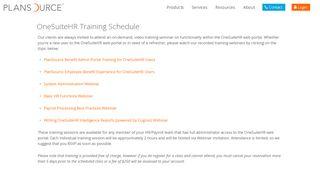 OneSuiteHR Training   PlanSource