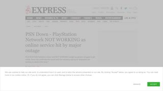 PSN Down - PlayStation Network NOT WORKING as online service hit ...