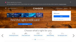 Credit Card, Mortgage, Banking, Auto   Chase Online   Chase.com