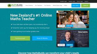 MathsBuddy - Welcome