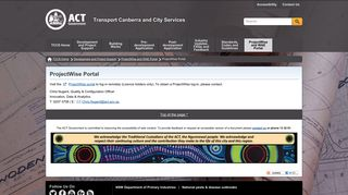 ProjectWise Portal - Transport Canberra and City Services