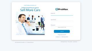 ProMax Mobile Login - promaxmobile.com