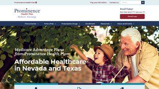Medicare Advantage - Prominence Health Plan   Nevada and Texas