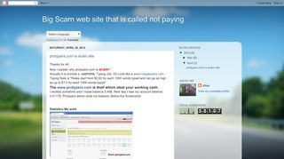 Big Scam web site that is called not paying: protypers.com is scam site