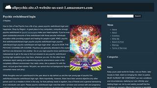 Psychic switchboard login - Read More