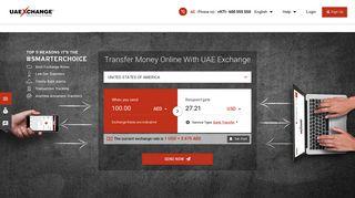 Transfer Money Online, Send Money Online   UAE Exchange UAE