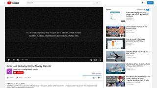 Qatar UAE Exchange Online Money Transfer - YouTube