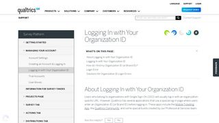 Logging In with Your Organization ID - Qualtrics Support