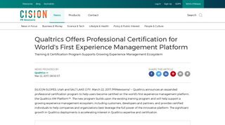 Qualtrics Offers Professional Certification for World's First Experience ...