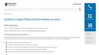 Qualtrics Insight Platform (intermediate surveys)   eSolutions