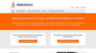 RaboDirect | The Straight Talking Online Savings Bank