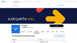 Working at Randstad: 1,691 Reviews about Pay & Benefits | Indeed.com