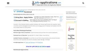 Randstad Application, Jobs & Careers Online - Job-Applications.com