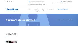 Leading Temp Staffing & Recruiting Agency | Employee Benefits