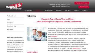 Clients - rapid! PayCard