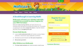 Signup - Mathseeds