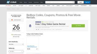 Redbox Promo Codes, Coupons & Free Movie Rentals - Slickdeals