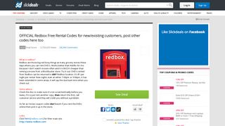OFFICIAL Redbox Free Rental Codes for new/existing customers, post ...