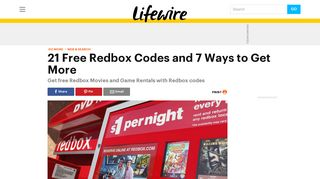 19 Free Redbox Codes (and 7 Ways to Get More) - Lifewire