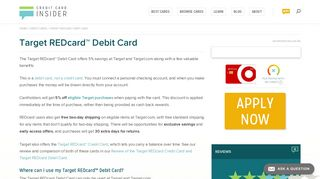 Target REDcard™ Debit Card - Credit Card Insider