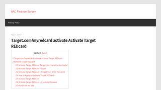 Target RED Card Login - AAC Finance Survey
