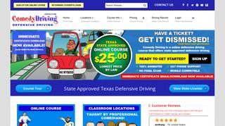 Comedy Driving: $25 - Texas Defensive Driving Online Course