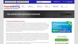 TEA Approved Defensive Driving - Comedy Driving