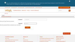User account | Voya Financial