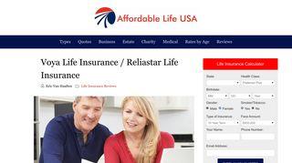 Voya Life Insurance - Voya Reliastar Life Insurance | Affordable Life USA