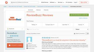 ReviewBuzz Reviews   G2 Crowd