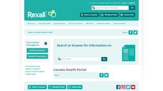 Canada Health Portal - Rexall