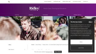 Online Theological & Bible College   About Ridley Online